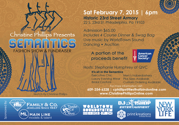 Semantics Fashion Show & Fundraiser 2/7/15